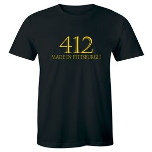 412 Made In Pittsburgh T-Shirt Area Code Tee
